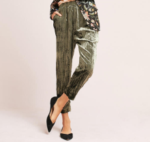 "Photo Credit: Anthropologie ""Velvet Cropped Pants"""
