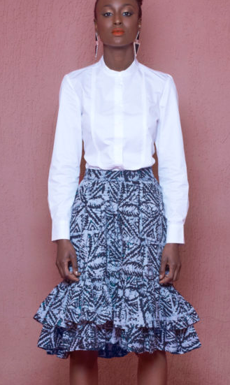 Kifayath Ruffle Skirt