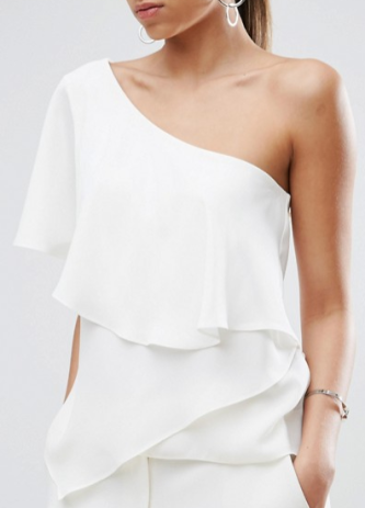 """ASOS One Shoulder Tiered Top"" - ASOS ($24)"