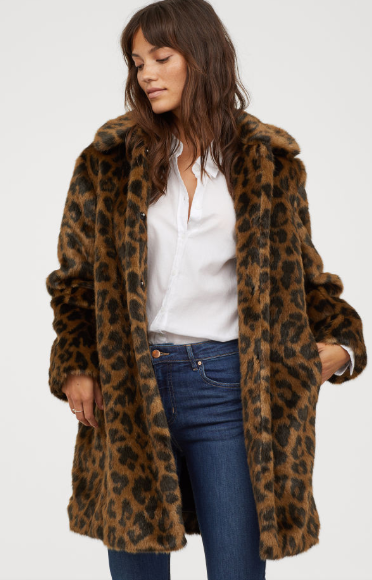 H&M Faux Fur Coat