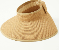 Bow Straw Visor by Loft Outlet