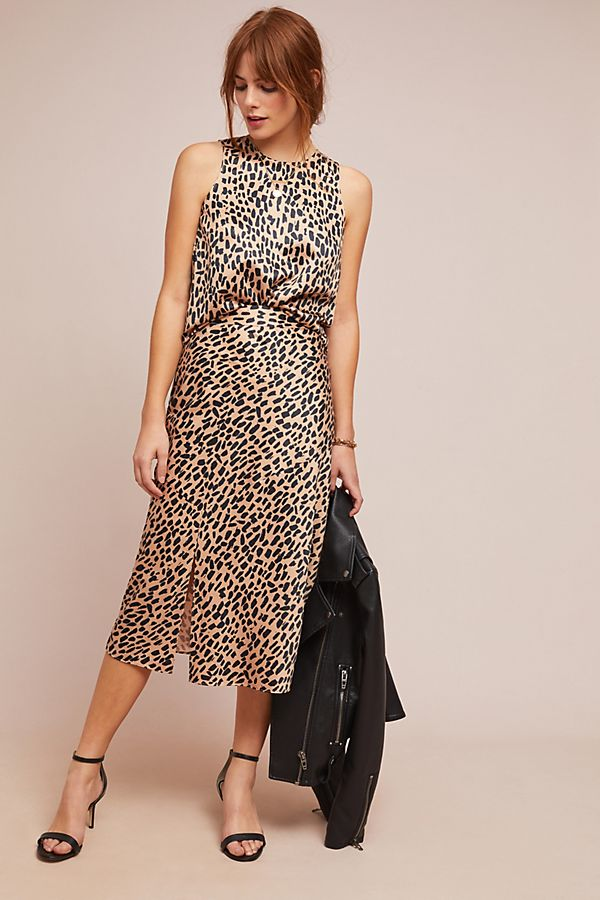 Anthropologie Leopard Midi